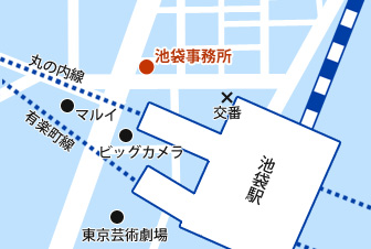 池袋オフィス地図